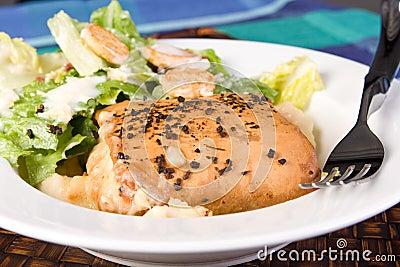 Seafood Filo with Caesar Salad