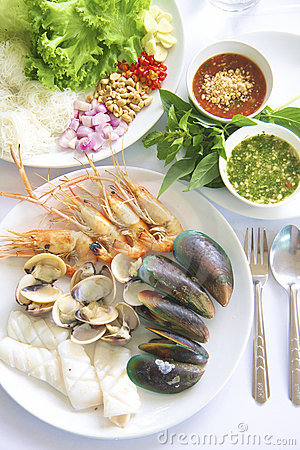 Free Seafood Grilled Royalty Free Stock Images - 21296539