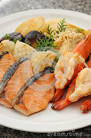 Seafood grilled