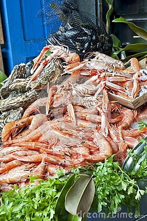 Seafood on market