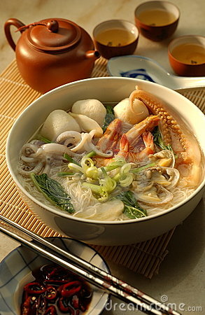 Free Seafood Noodle Royalty Free Stock Image - 3191346