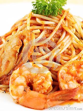 Free Seafood Pasta Royalty Free Stock Image - 15888116