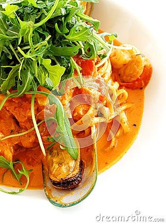Free Seafood Pasta Food Stock Image - 5909641