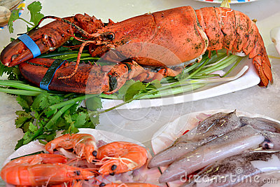 Seafood raw materials