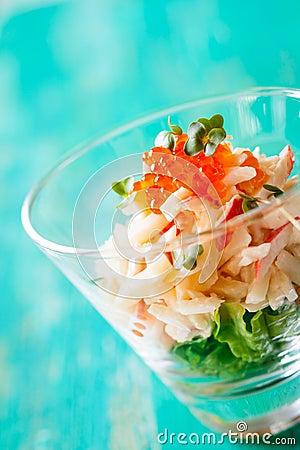 Free Seafood Salad Royalty Free Stock Photos - 27458298