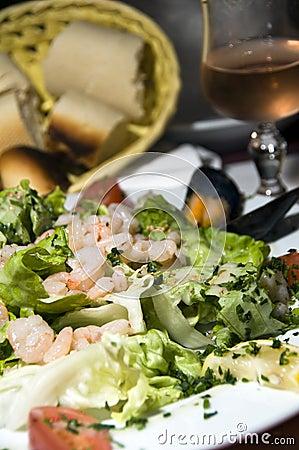 Seafood salad bonifacio corsica france