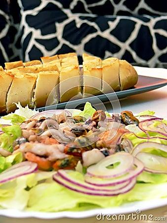 Free Seafood Salat Stock Photography - 6753302