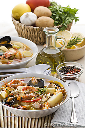 Free Seafood Soup Royalty Free Stock Image - 15108756