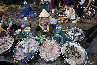 Seafood Vendor Vietnam Editorial Photo