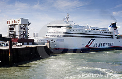 Seafrance ferry at Calais Editorial Image