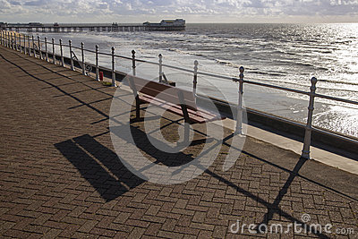 Seafront bench