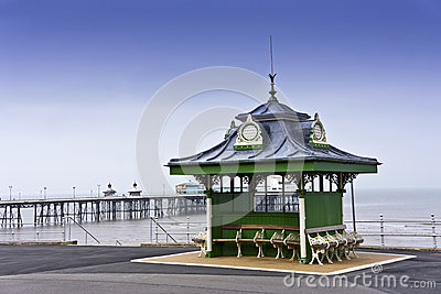 Seafront at Blackpool, England.