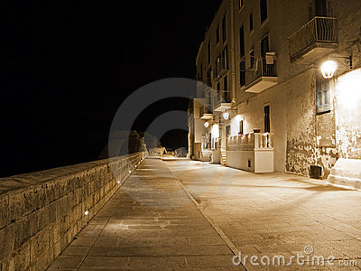 Seafront by night. Monopoli. Apulia.