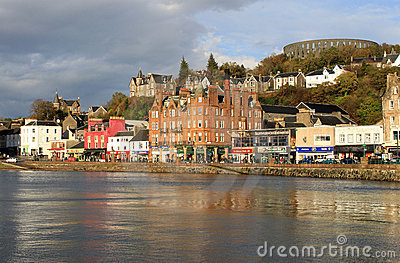 Seafront at Oban, Argyll, Scotland Editorial Stock Photo