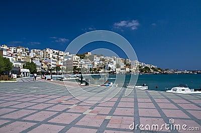 The seafront promenade in Sitia