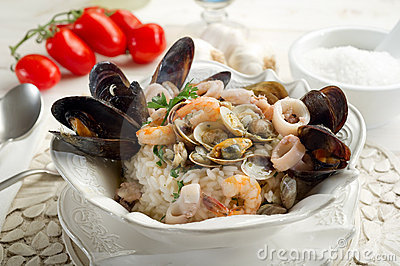 Seafruits risotto