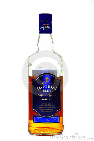 Seagram s imperial blue whiskey bottle Editorial Stock Image