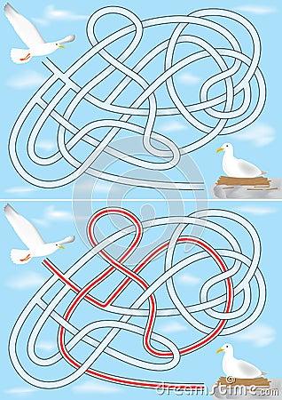 Seagull maze