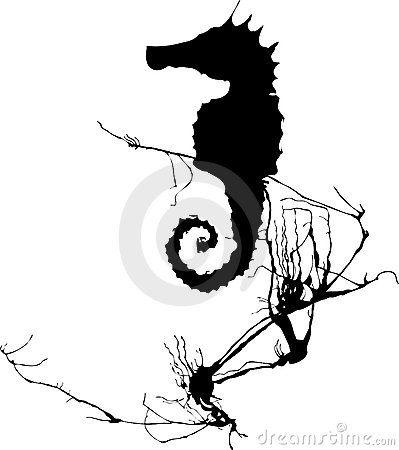 Seahorse and Seaweed #1