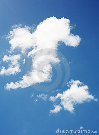 Seahorse shaped clouds