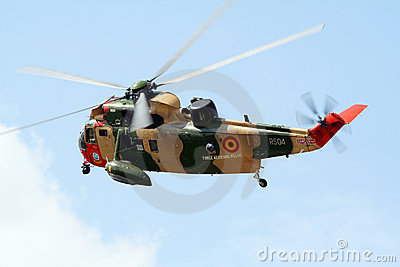 Seaking rescue helicopter Editorial Stock Image