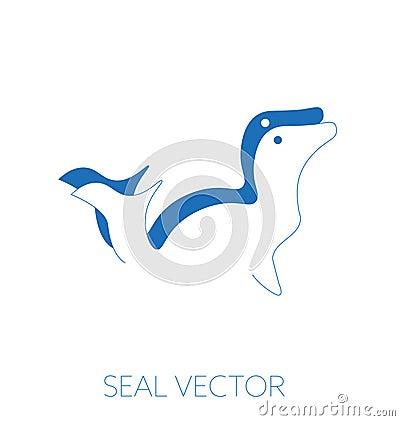 Seal minimal vector illustration Vector Illustration