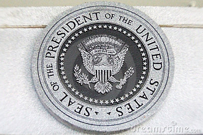 Seal of the president of the USA Editorial Photo