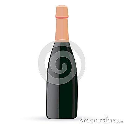 Sealed bottle  illustration