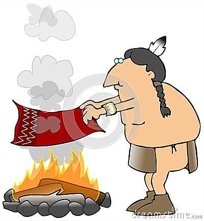 Señales de humo indias
