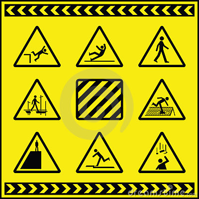 Señales de peligro del peligro 4