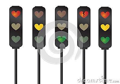 Señales de tráfico del amor/del corazón