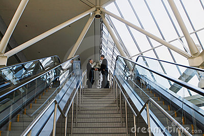 Sealing the Deal at the top of the stairs