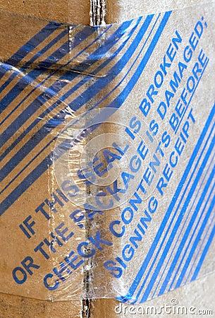 Sealing warning on package