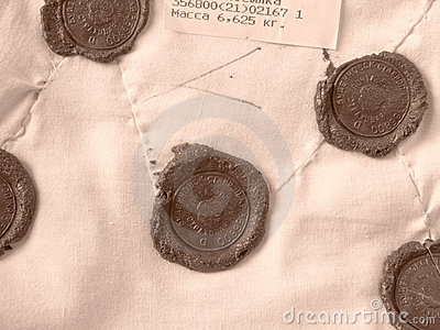 Sealing wax stamps