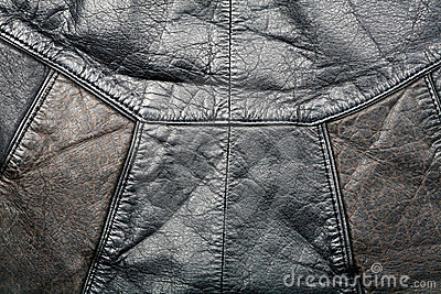 Seam on leather product
