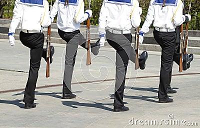 Seamen march