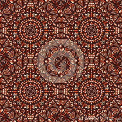Seamlees Pattern with Symmetry Decoration