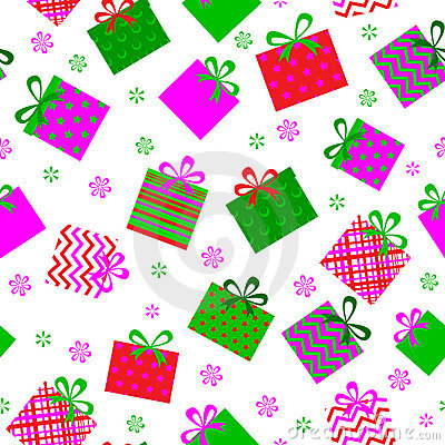 Seamleess background of gift boxes