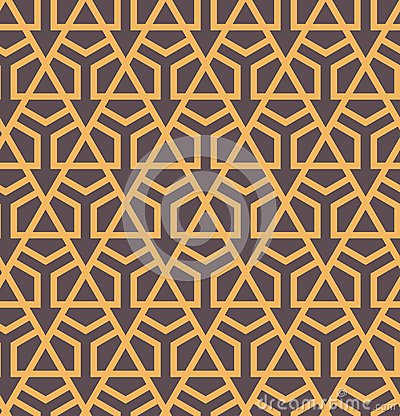 Free Seamles Abstract Geometric Pattern With Hexagons And Triangles - Vector Eps8 Royalty Free Stock Photography - 100687327