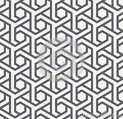 Free Seamles Geometric Pattern With Hexagons And Triangles - Vector Eps8 Stock Photography - 87548442