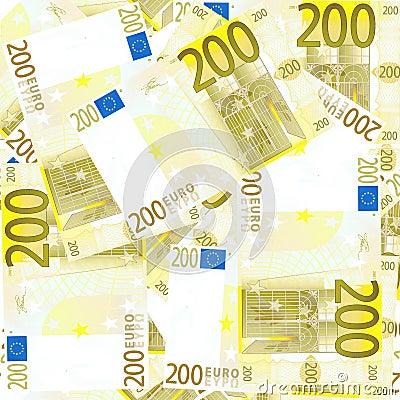Seamless 200 Euro s background