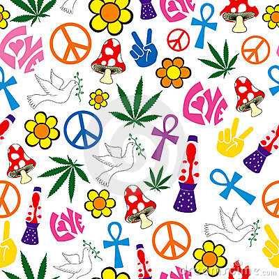 Peace Love Happiness Icons