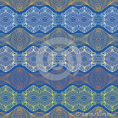 Seamless 70 s ethnic wallpaper or textile pattern