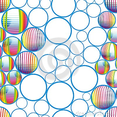 Seamless abstract bubbles