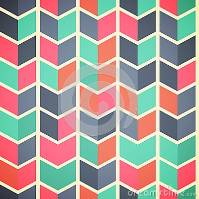 Free Seamless Abstract Colorful Background With Arrows In Retro Color Royalty Free Stock Image - 52658796