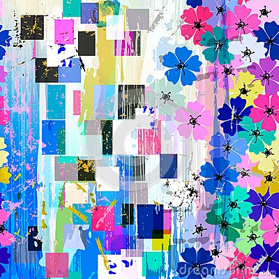 Free Seamless Abstract Flowers Pattern Stock Photo - 50354030