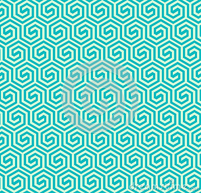 Seamless abstract geometric hexagonal pattern -vector eps8 Vector Illustration