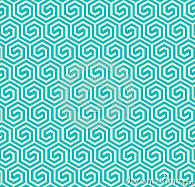 Seamless abstract geometric hexagonal pattern -vector eps8 Vector Illustration