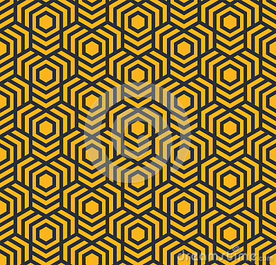 Seamless abstract geometric pattern with hexagons - eps8 Vector Illustration