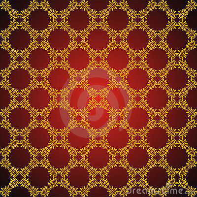 Seamless abstract golden orient pattern